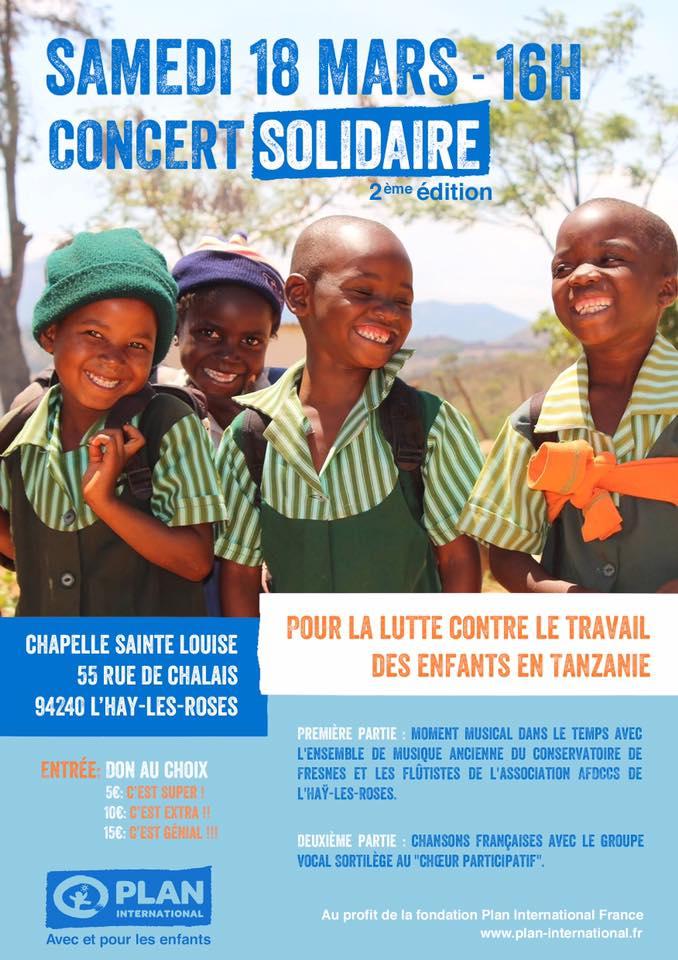 concert solidaire 2 me dition au profit de plan international france. Black Bedroom Furniture Sets. Home Design Ideas