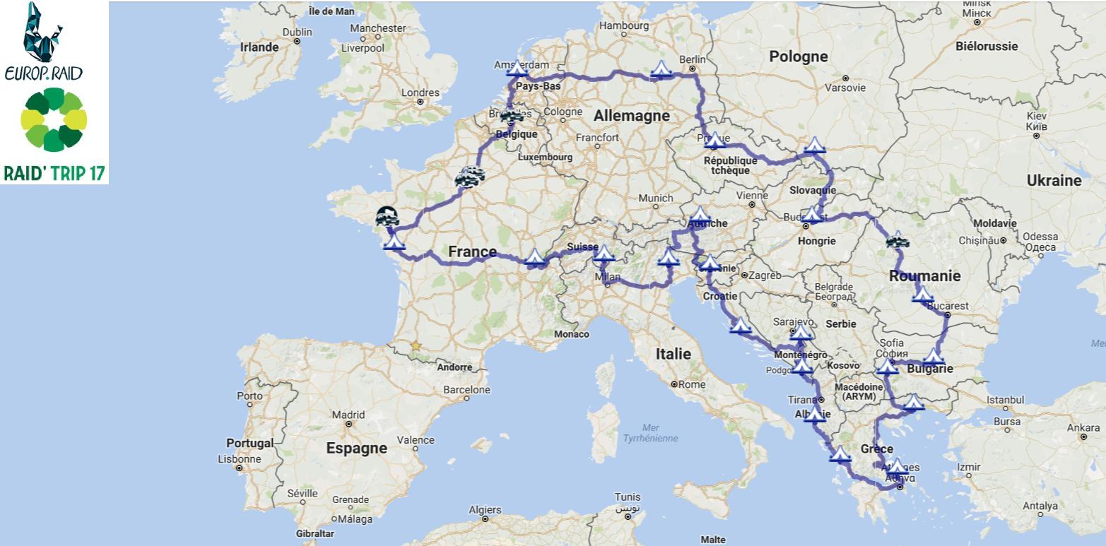 Carte Europe Raid.Raid Trip 17 Aidons Les Enfants Defavorises D Europe De L Est