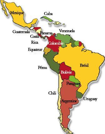 Carte Amerique Latine A Remplir.25 000 Km Pour Educart En Amerique Latine