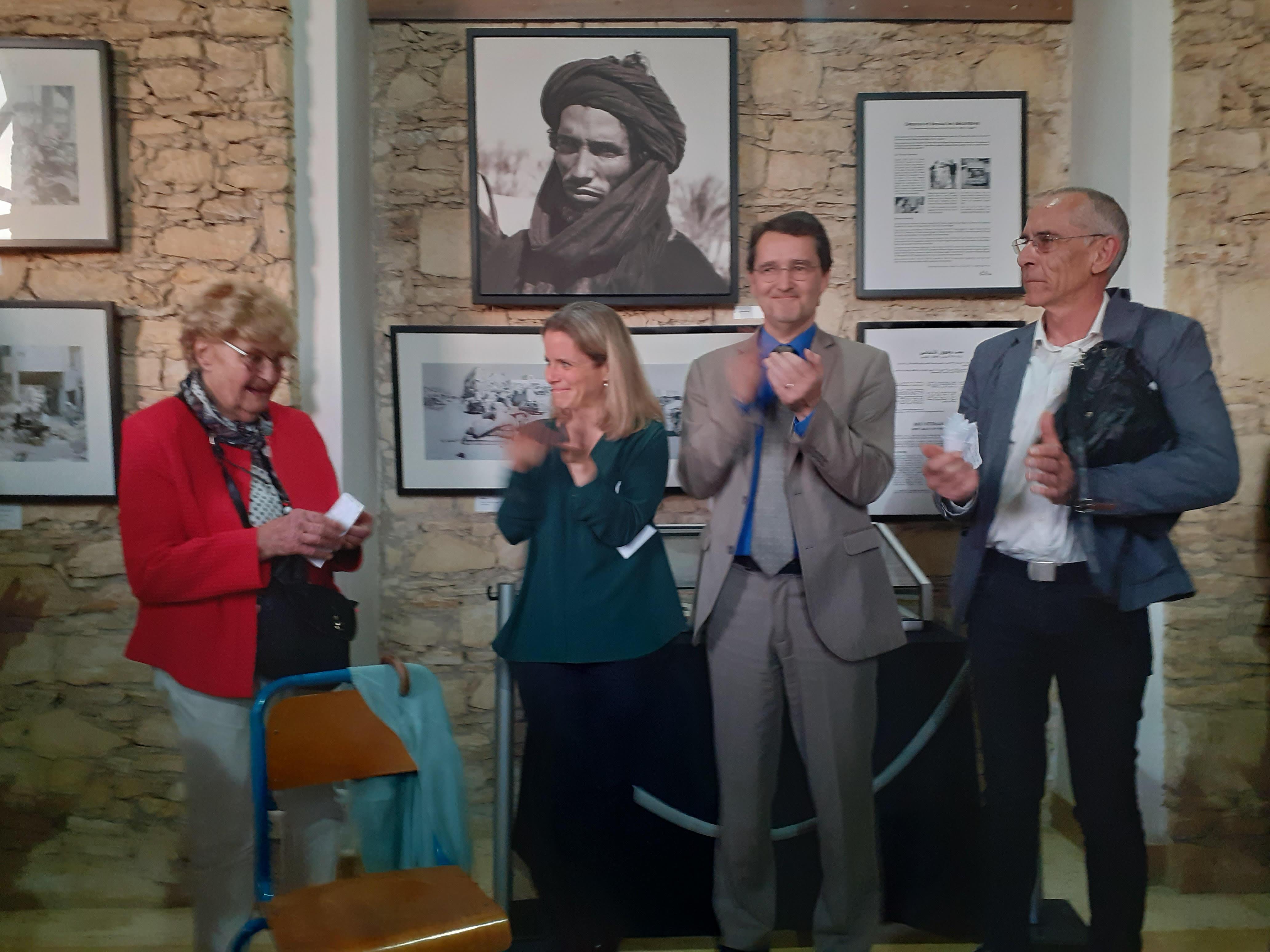 L'inauguration de l'exposition à l'Institut français d'Agadir en présence du Consul général