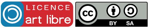Licences art libre et CC by-sa