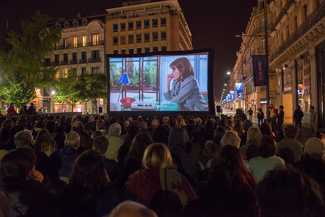 Projection en plein air