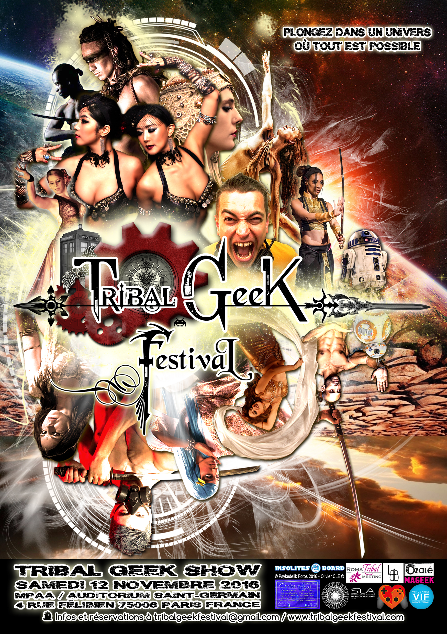 Flyer officiel Tribal Geek Festival